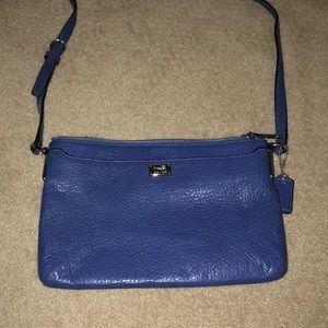 Blue medium coach purse